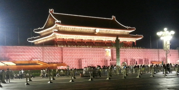 Everything at Tiananmen seems to be undergoing restoration -- except for Chairman Mao