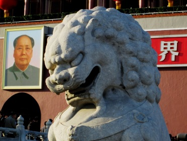 The Lion and Mao. (Photo by Rick Dunham)