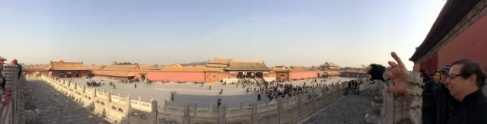 A panoramic view of the Forbidden City.