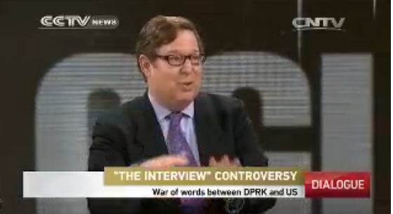 "Discussing ""The Interview"" on CCTV."