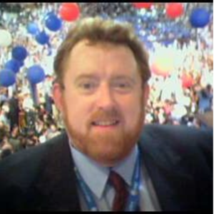 Ken Reigner at the 2000 Democratic National Convention in Los Angeles.